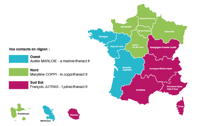 Contacts areso région