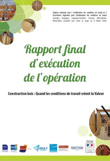 Couverture rapport construction bois