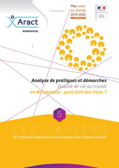 Analyse de pratiques et démarches Qualité de vie au travail en Normandie : quel état des lieux ?