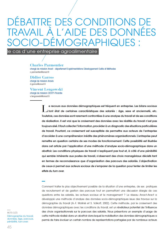 Visuel - Débattre des conditions de travail à l'aide des données socia-démographiques