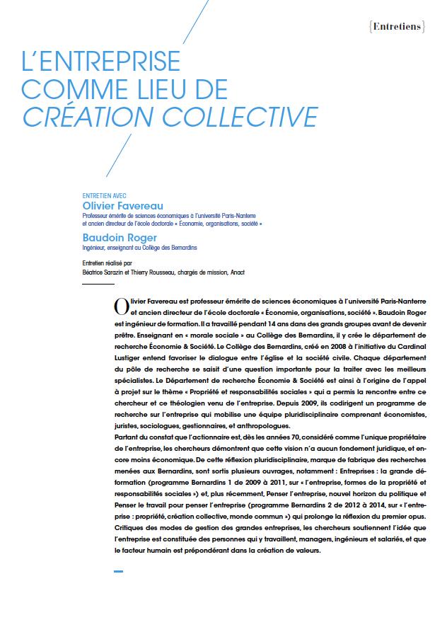 Visuel - L'entreprise comme lieu de création collective - RDCTn7