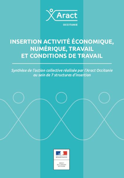 Insertion activité économique, numérique, travail et conditions de travail. Synthèse de l'action collective réalisée par l'Aract Occitanie au sein de 7 structures d'insertion