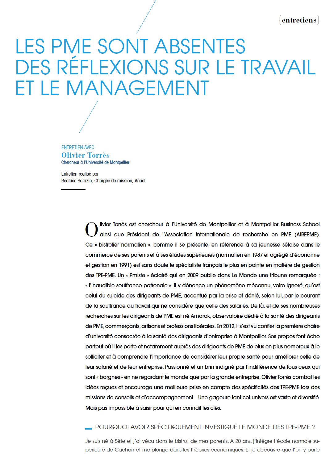 Visuel : RDCTn5 - Les PME sont absentes des réflexions sur le travail et sur le management