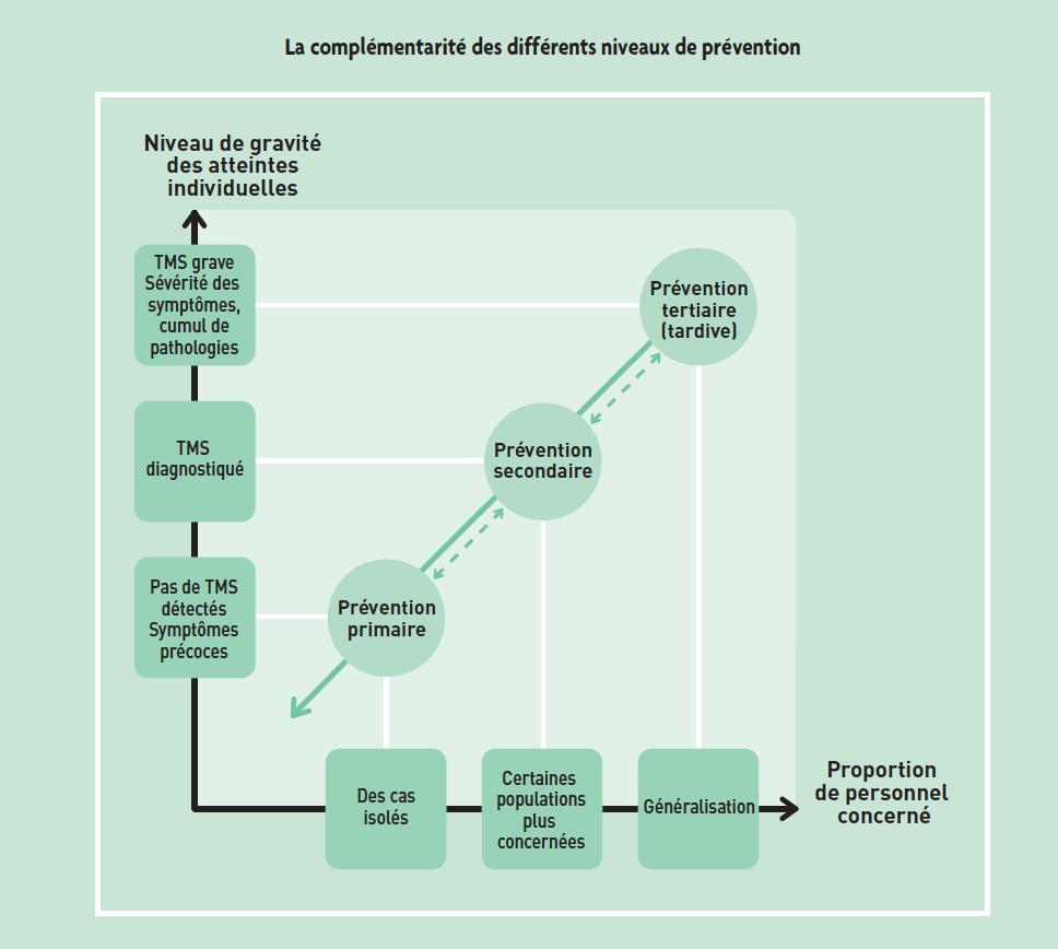 La complémentarité des différents niveaux de prévention
