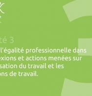 Inscrire l'égalité professionnelle dans les réflexions et actions menées sur l'organisation du travail et les conditions de travail.