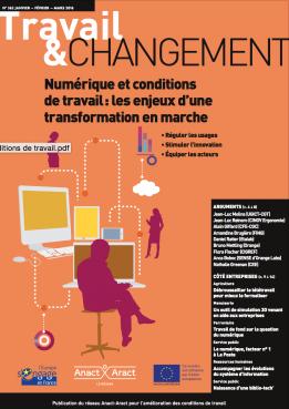 Couverture Travail et changement - numérique et conditions de travail