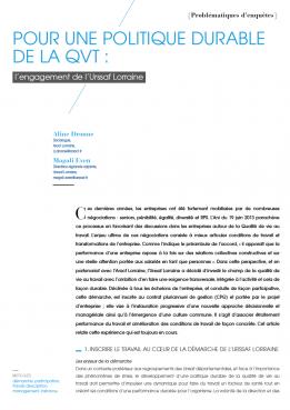 Visuel - Pour une politique durable de la QVT