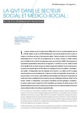 Visuel - La QVT dans le secteur social et médico-social