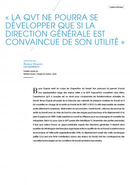 Visuel - La QVT ne pourra se développer que si la direction générale est convaincue de son utilité