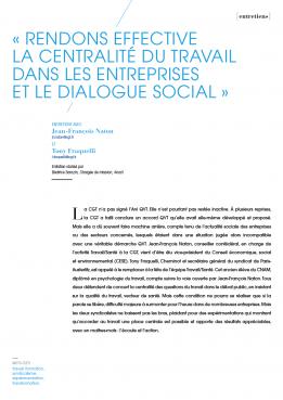 Visuel - Rendons effective la centralité du travail dans les entreprises et le dialogue social