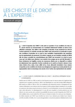 Visuel - Les CHSCT et le droit à l'expertise - RDCTn7