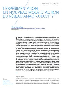 Visuel - L'expérimentation un nouveau mode d'action du réseau Anact-Aract - RDCTn7