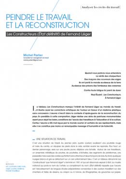 Peindre le travail et la reconstruction: les constructeurs (état définitif) de Fernand Léger
