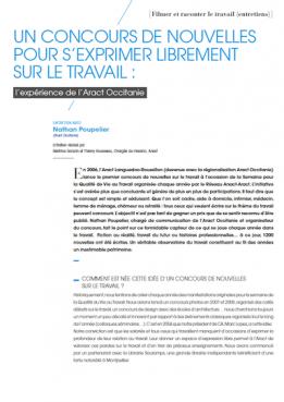 Un concours de nouvelles pour s'exprimmer librement sur le travail : l'expérience de l'Aract Occitanie