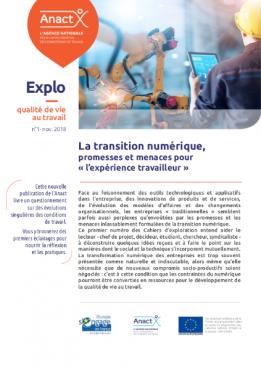 """Vignette document La  transition numérique, promesses et menaces pour """"l'expérience travailleur"""""""