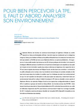 Visuel : RDCTn5 - Pour bien percevoir la TPE, il faut d'abord analyser son environnement
