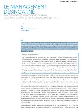 Visuel RDCT - Le management désincarné
