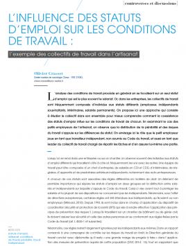 Visuel : RDCTn5 - L'influence des statuts d'emploi sur les conditions de travail