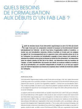 Visuel - Quels besoins de formalisation aux débuts d'un FABLAB - RDCTn7