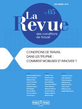Visuel : cinquième numéro de La Revue des conditions de travail