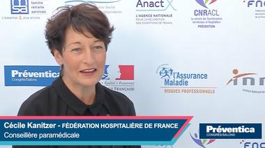 Cécile Kanitzer, conseillère paramédicale, Fédération Hospitalière de France présente le dispositif clusters qualité de vie au travail pour les établissements de santé