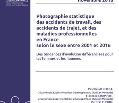 Photographie statistique des accidents de travail, des accidents de trajet et des maladies professionnelles en France selon le sexe entre 2001 et 2016