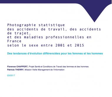 Photographie statistique des accidents de travail, des accidents de trajet et des maladies professionnelles en France selon le sexe entre 2001 et 2015