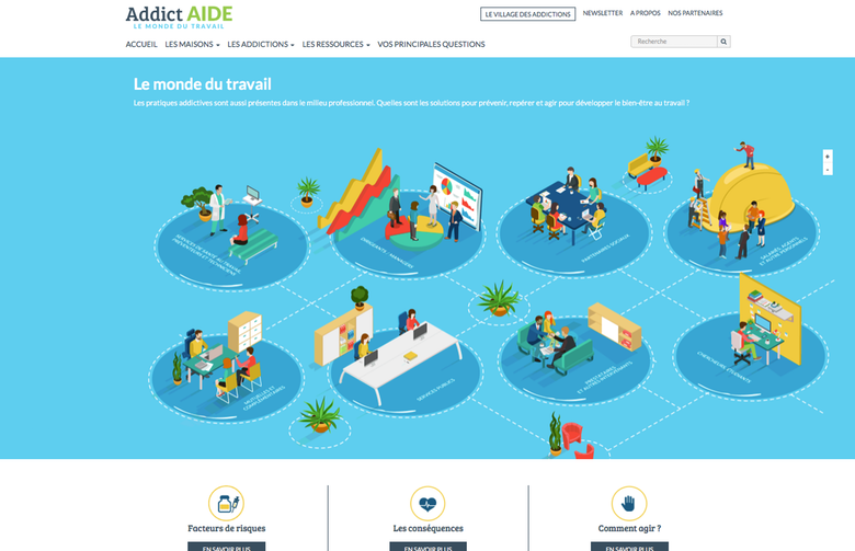 addictaide.fr/travail : le nouveau portail Après avoir été un sujet tabou en France, les conduites addictives dans le monde du travail constituent désormais une préoccupation de plus pour prévenir et gérer les conduites addictives dans le monde du travail