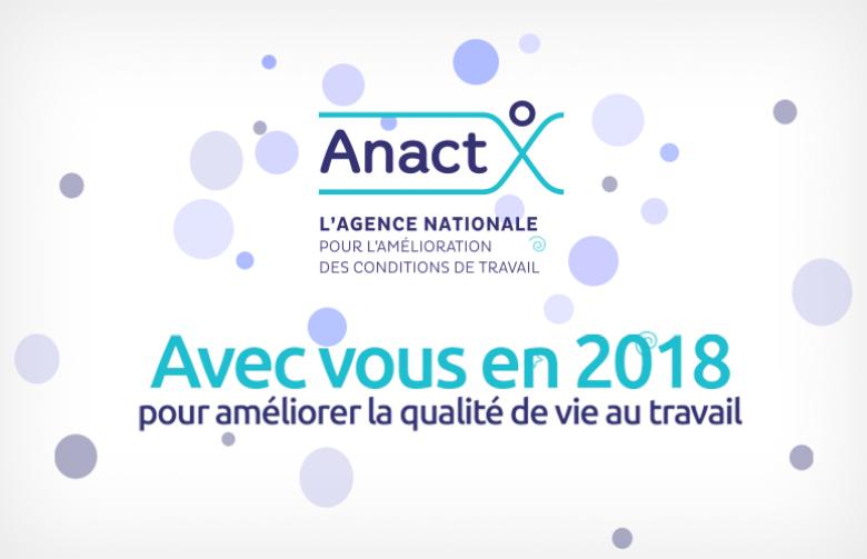Visuel : carte de voeux 2018 Anact