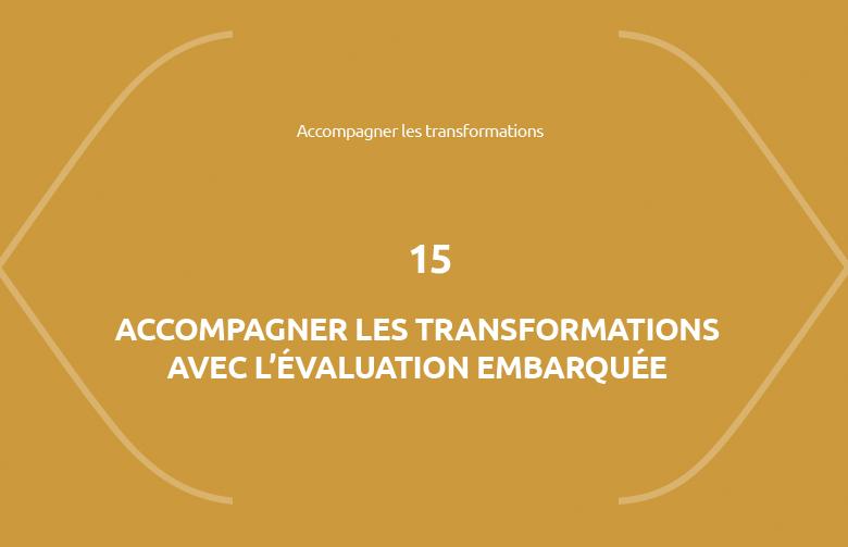 Formation Accompagner les transformations avec l'évaluation embarquée