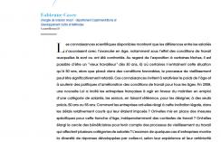 """Visuel - Loi senior de 2008 et """"approche conditionnelle"""" des relations entre l'âge, le travail et le vieillissement"""