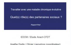 Travailler avec une maladie chronique évolutive. Quel(s) rôle(s) des partenaires sociaux ?
